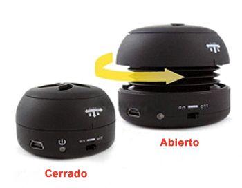 Comprar Speaker round plastico negro