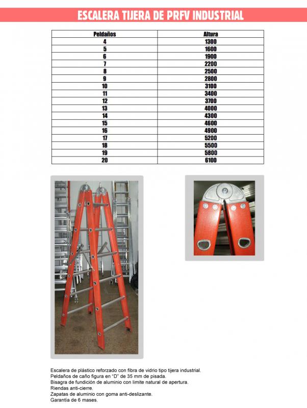 Comprar Escalera Tijera de Prefv Indusltrial