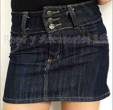 3dabcd075 Minifalda de jean con tres botones comprar en Buenos Aires
