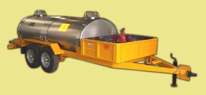 Comprar Trailers para Transporte de Sustancias / Trailer Doble de 1500 Litros con Caja Delantera
