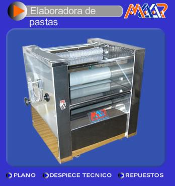 Comprar Elaboradora de pastas - Sobadora con fideero 300 mm.
