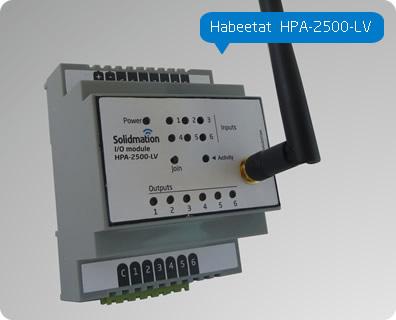 Comprar Módulo para Domótica de 6 entradas y 6 salidas a Relay de montaje riel DIN Habeetat® HPA-2500-LV