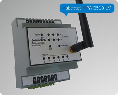 Comprar Controlador de 2 cortinas + 2 interruptores para domótica, de montaje riel DIN Habeetat® HPA-2510-LV