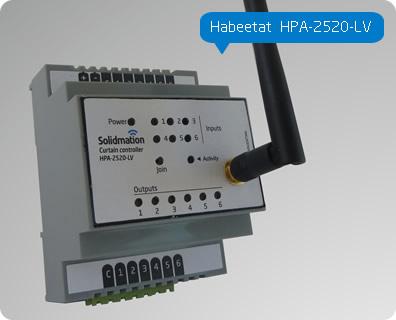 Comprar Controlador de cortinas de 3 canales para domótica, de montaje riel DIN Habeetat® HPA-2520-LV