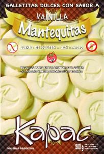 Comprar Galletitas Dulces con Sabor a Vainilla Libres de Gluten Mantequitas