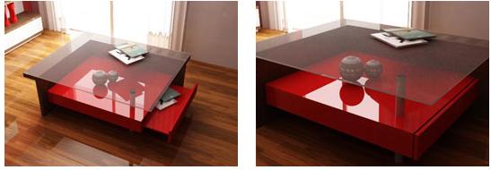 Comprar Mesa ratona en laca roja