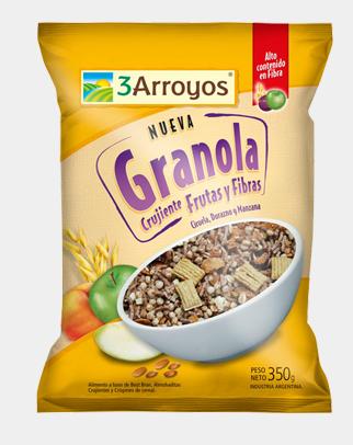 Comprar Granola crujiente frutas y fibras