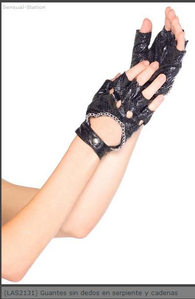 Comprar Guantes sin dedos en serpiente y cadenas