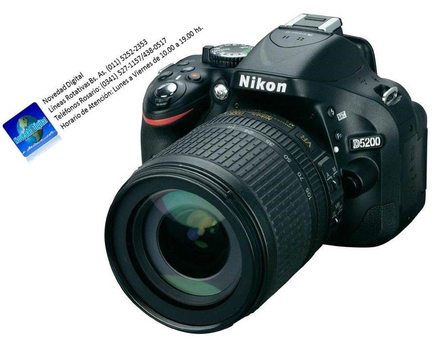 Comprar Nikon d5200 kit 18-105vr, sd 32 gb clase 10, bolso, garantía