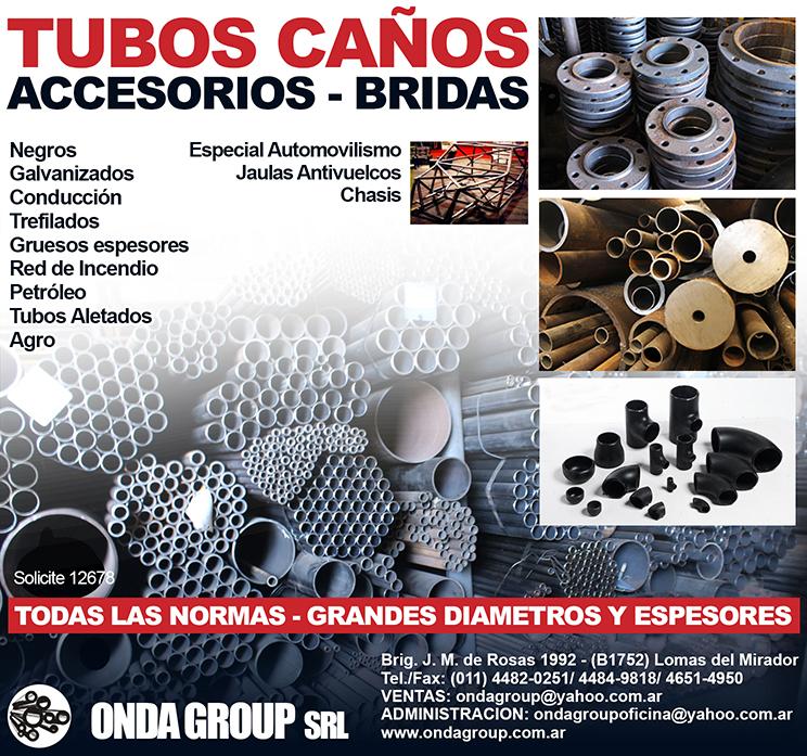 Comprar TUBOS DE ACERO S/COSTURA, CAÑOS DE ACERO C/COSTURA, BRIDAS Y ACCESORIOS PARA TUBERIAS