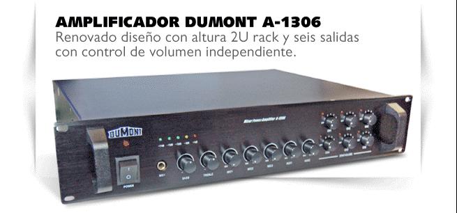 Comprar Amplificador profesional para música funcional Dumont A1306