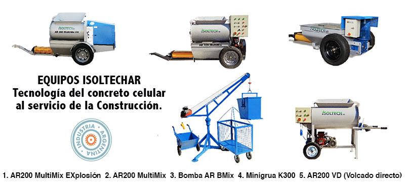 Comprar Equipos para la elaboración de concreto celular.
