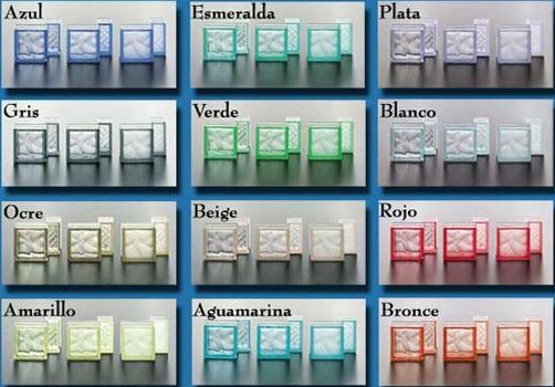 ladrillos de vidrio de color opaco - Ladrillos De Vidrio