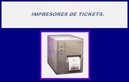 Comprar Impresores de tickets
