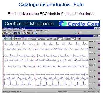 Comprar Producto:Monitoreo ECG Modelo:Central de Monitoreo