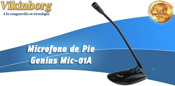 Microfono Multimedia de Pie Mic-01A
