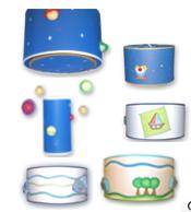 Comprar Lámpara Infantiles con Apliques de Cartapesta