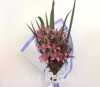 Comprar Ramo de Lilium, Astromelia con cortaderas