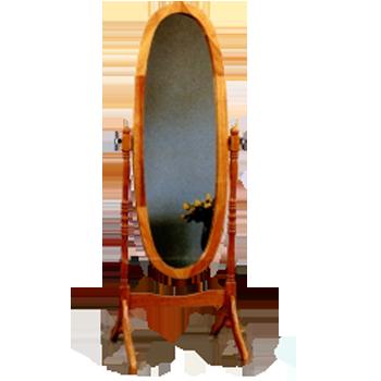 espejo ovalado vaiven de madera