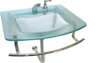 Comprar Mesada para baño con bacha termoformada Medio punto .