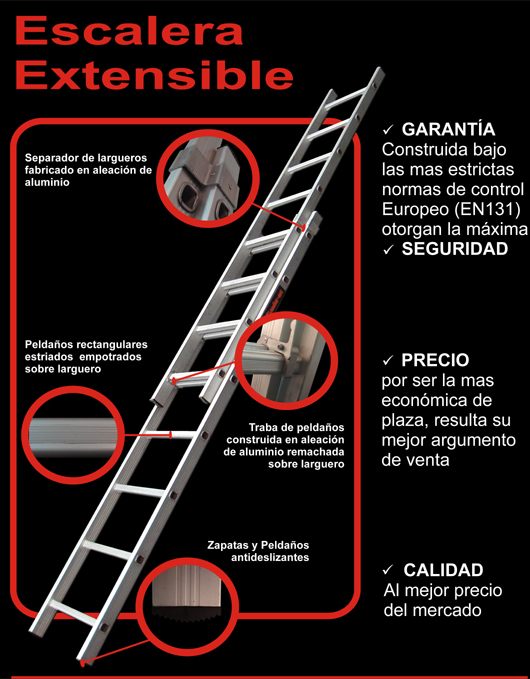 Comprar Escalera extensible