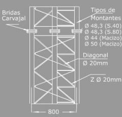 Mástil Serie C-80
