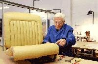 Diferentes telas para tapicería de autos, sillas,