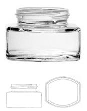Potes de vidrio :Geles y Cremas