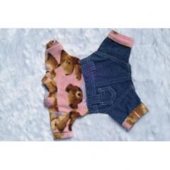 Pantalon de Jean con Buzo Polar