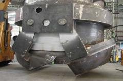 Loading elevator of scrap metal