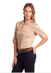 Camisa manga 3/4 con morley en laterales