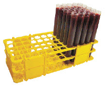 Gradilla Plástica Desmontable con Agujero Cuadrado