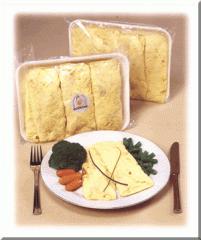 Huevo entero cocido saborizado tipo omelette