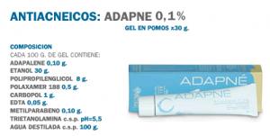 Antiacneicos: Adapne 0,1%