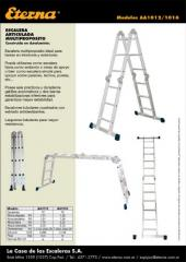 Escalera articulada de aluminio Serie AA 1012/16