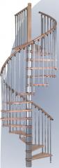 Escalera sistematizada caracol para interiores