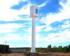 Tanque elevado para almacenaje de agua potable con