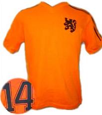 Camiseta de Holanda 1977 JOHAN CRUYFF.