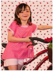 Pijama Niña doble manga estampado corazónes con