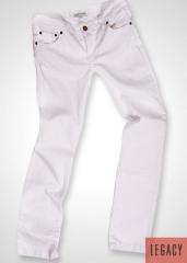 Pantalón demin 5 bolsillos blanco straight