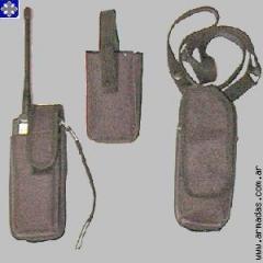 Porta HT de cintura con tapa y protección