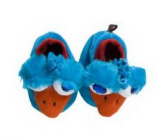 Pantuflas con diseño patito azul