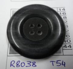 Botón de poliéster