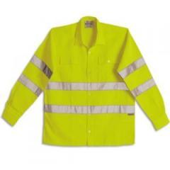 Camisa trabajo fluo con reflectivos 3m