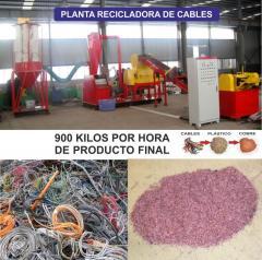 Planta recicladora de cables