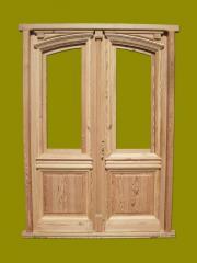 Puerta de Frente Doble Hoja en madera de Pinotea