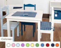 Mesas, sillas y bancos de madera para dormitorios de niños