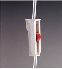 Clamp con obstructor gradual de presión