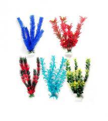 Plantas plásticas de 10 cm para la decoración de acuarios