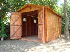 Galpón grande de madera para exterior